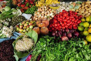 Verdura de todo tipo en el mercado de guatemala