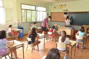 niños en aula de clases