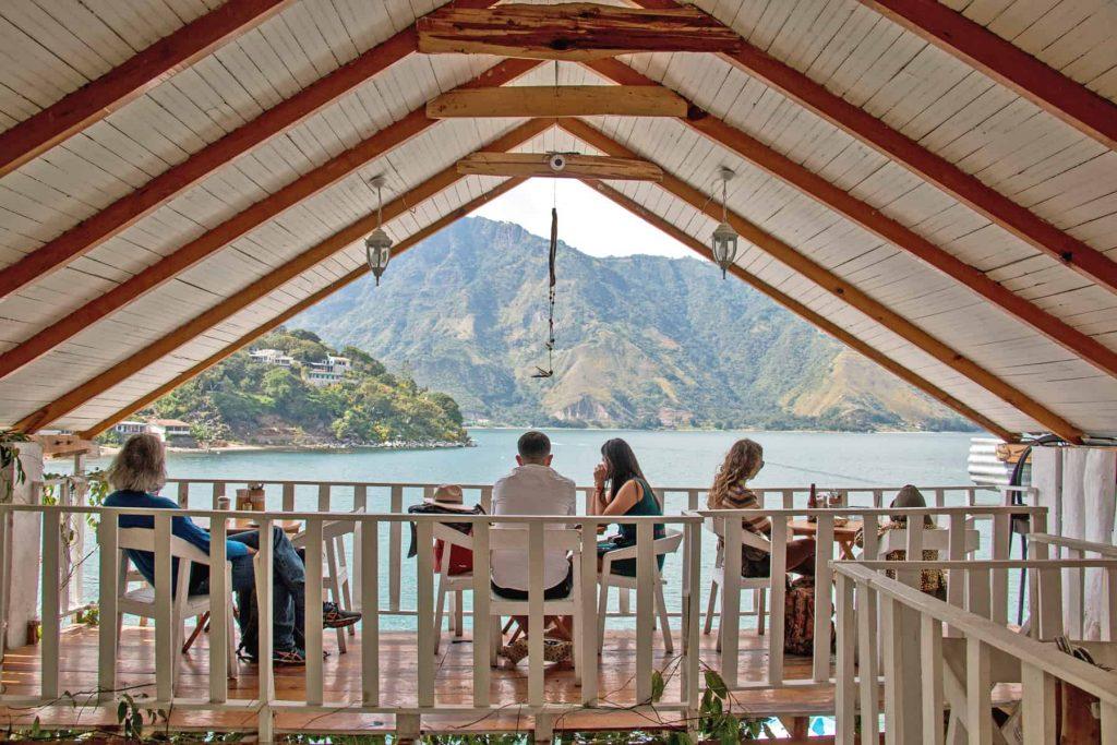 Restaurantes en el lago Atitlán